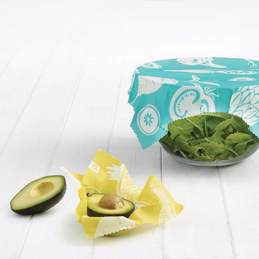 Ensemble de 4 petits emballages alimentaires réutilisables jaunes - Photo 1