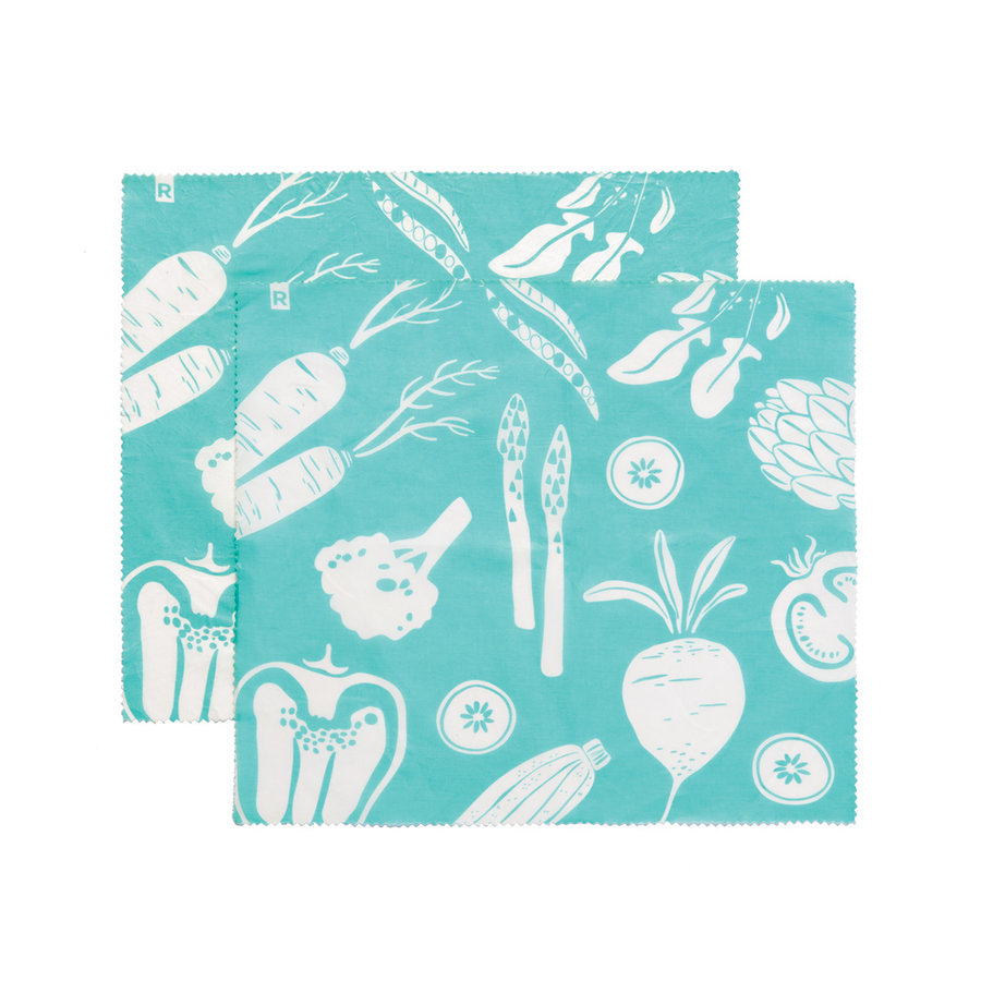 Set of 2 Large Turquoise Reusable Food Wraps - Photo 0