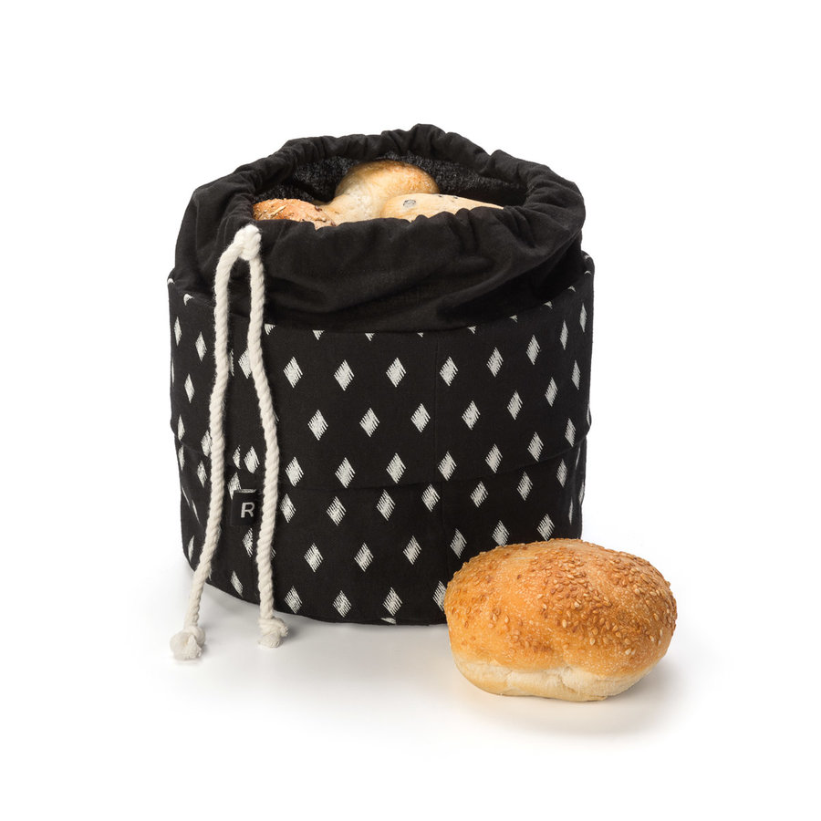 Diamond Motif Black Bread Bag - Photo 1