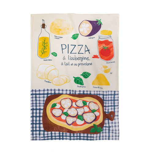Linge de maison «Pizza à l'aubergine»