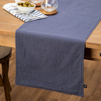 Blue Denim-Look Table Runner