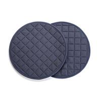 Blue Denim-Look Round Placemats