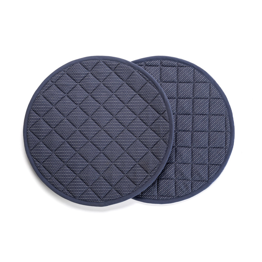 Blue Denim-Look Round Placemats - Photo 0
