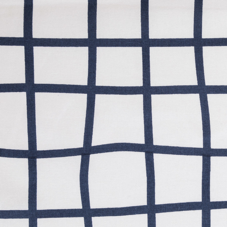Blue and White Checkered Tablecloth - Photo 1