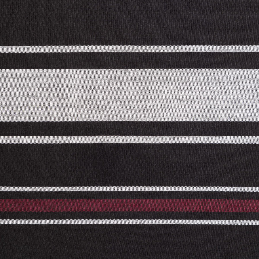 Black Tablecloth with White and Orange Stripes - Photo 1