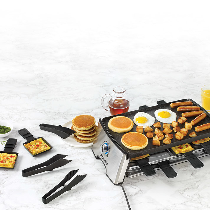 Reversible Electric Raclette Set