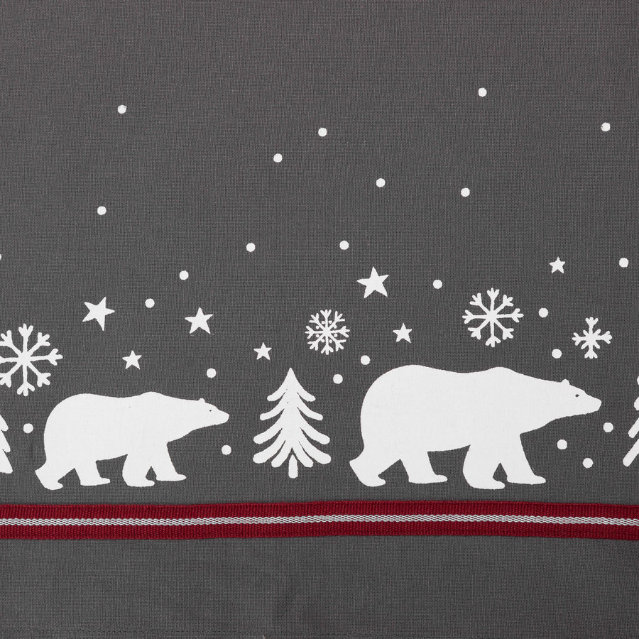 Solid Grey Polar Bear Tablecloth - Photo 1