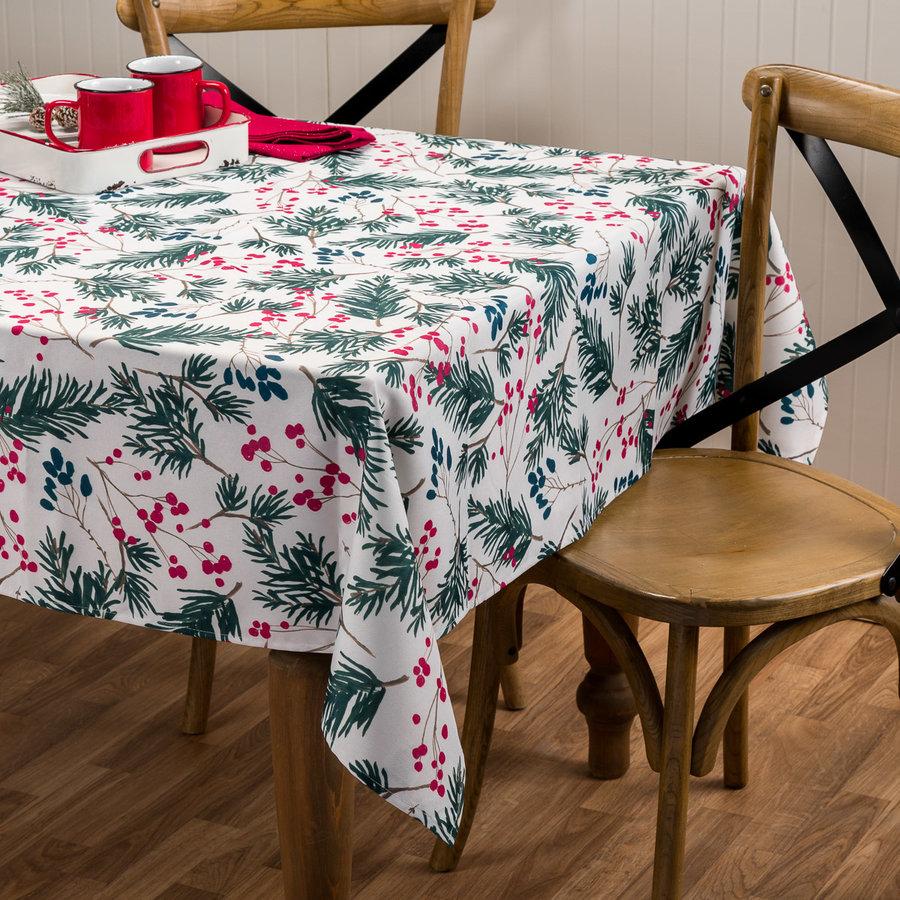 Cream-Coloured Fir Tree Tablecloth - Photo 0