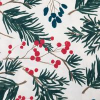 Cream-Coloured Fir Tree Tablecloth