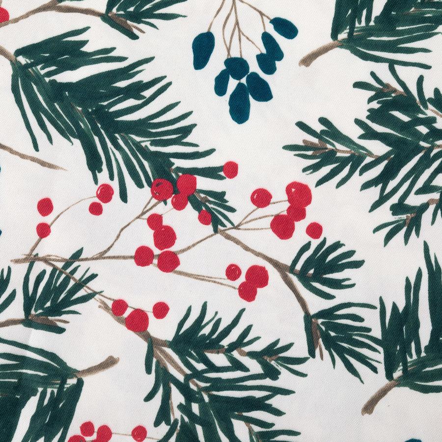 Cream-Coloured Fir Tree Tablecloth - Photo 1
