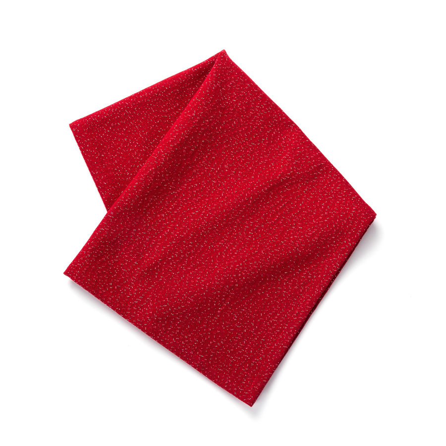 Serviette de table rouge unie - Photo 0