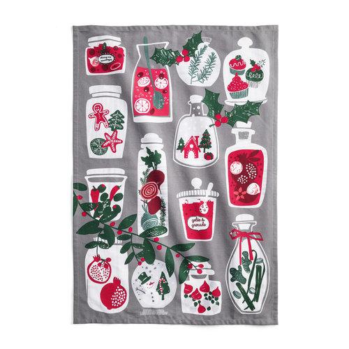 Christmas Jars Tea Towel