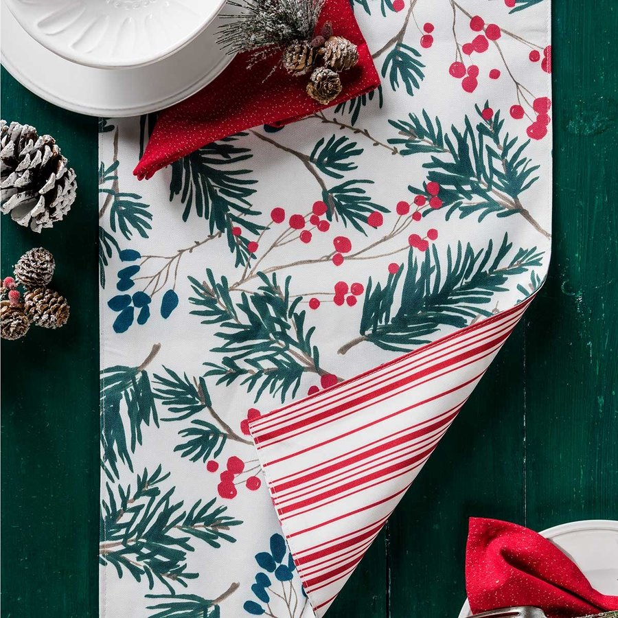 Fir Tree or Striped Reversible Table Runner - Photo 1