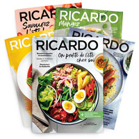 2 year subscription (16 issues) RICARDO magazine French Edition