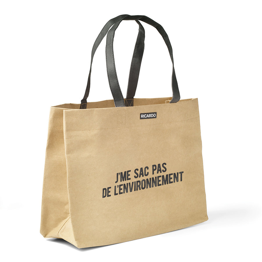 Reusable and Washable Shopping Bag Made of Recycled Paper - Photo 0