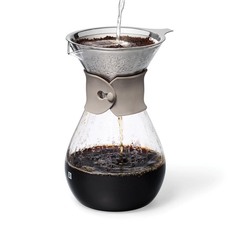Carafe à café en verre et filtre réutilisable - Photo 0