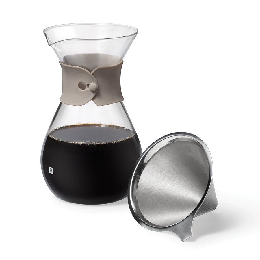 Carafe à café en verre et filtre réutilisable - Photo 1