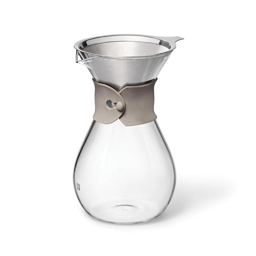 Carafe à café en verre et filtre réutilisable - Photo 2