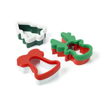 Silicone-covered Holiday Cookie Cutters