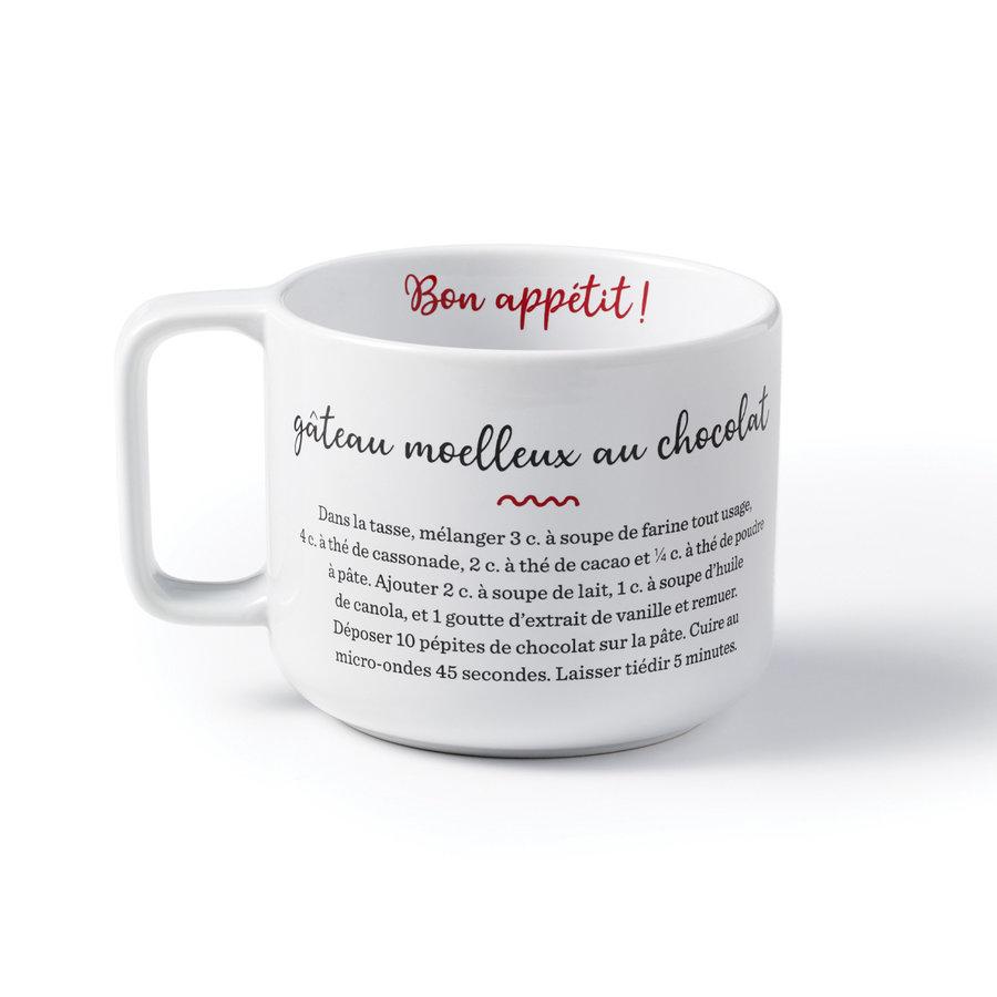 Tasse à café avec recette gâteau au chocolat - Photo 0