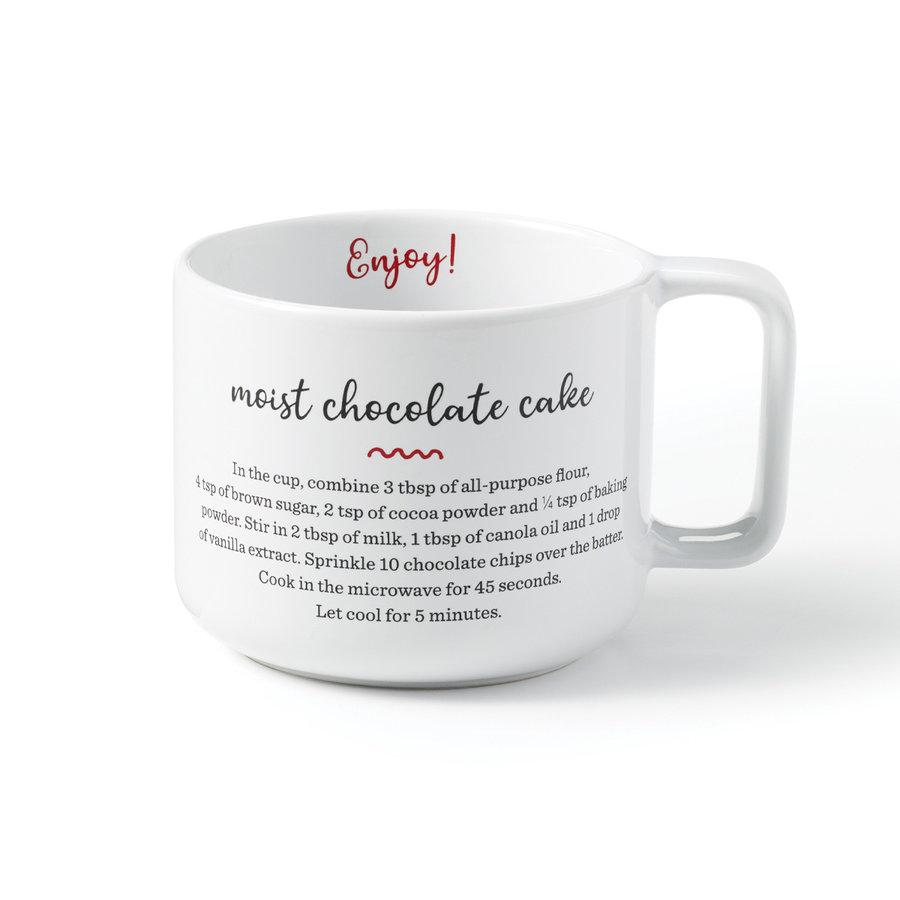 Tasse à café avec recette gâteau au chocolat - Photo 1