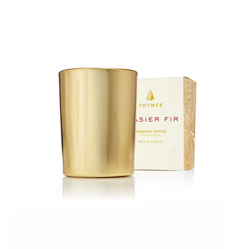 THYMES Frasier Fir Gold Votive Candle
