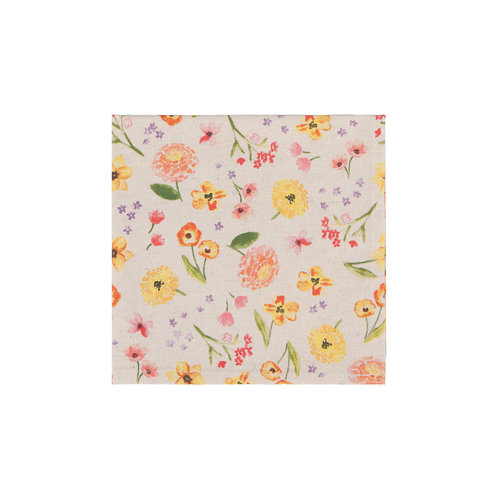 Serviette de table, imprimé floral