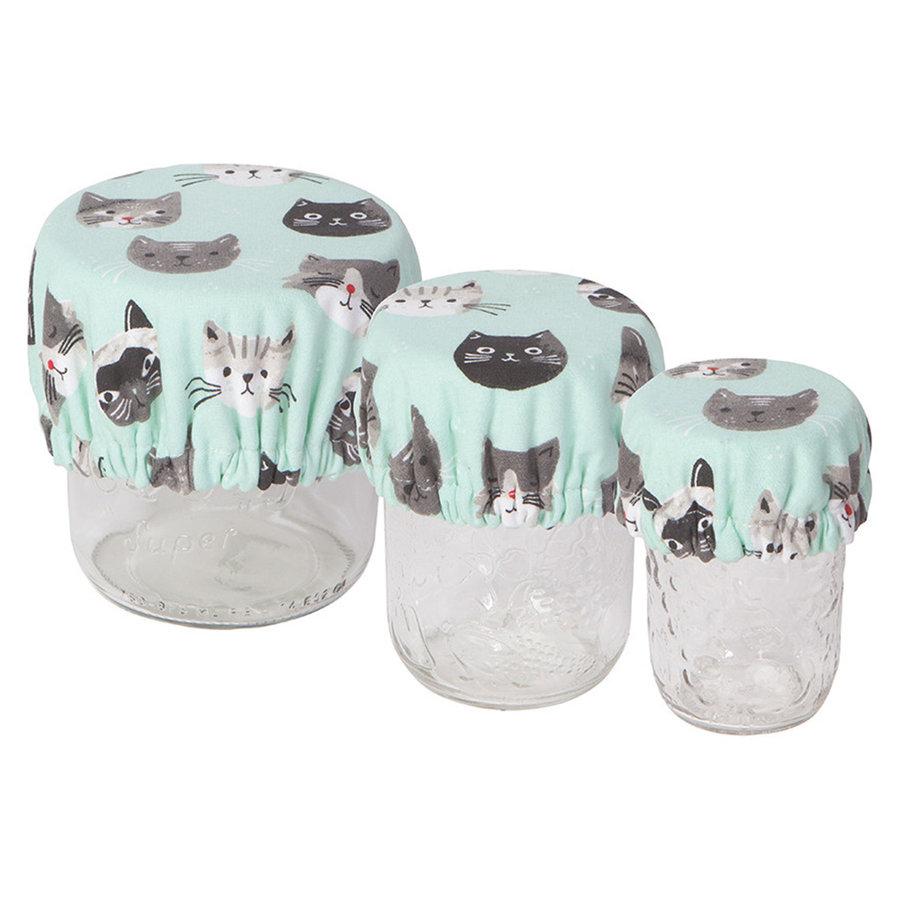 Mini Bowl Covers, Cats Meow Print - Photo 0