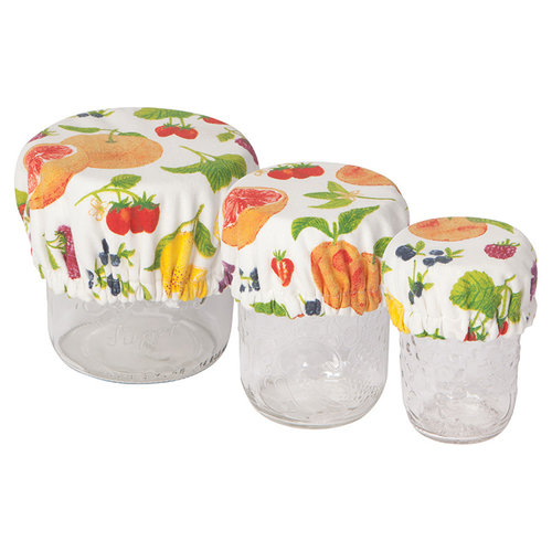 Mini Bowl Covers, Fruit Salad Print