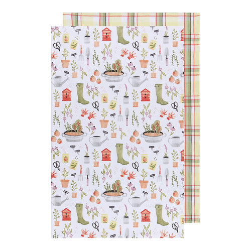Dishtowel, Garden Print