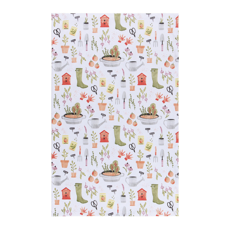 Dishtowel, Garden Print - Photo 1