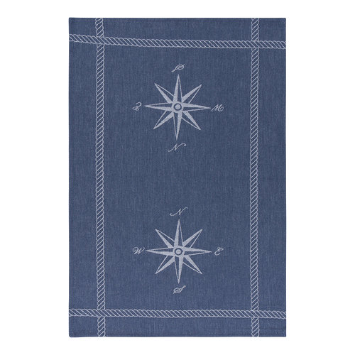 Dishtowel, Compass Print