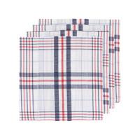 Serviette de table, motif à carreaux en tissu gaufré