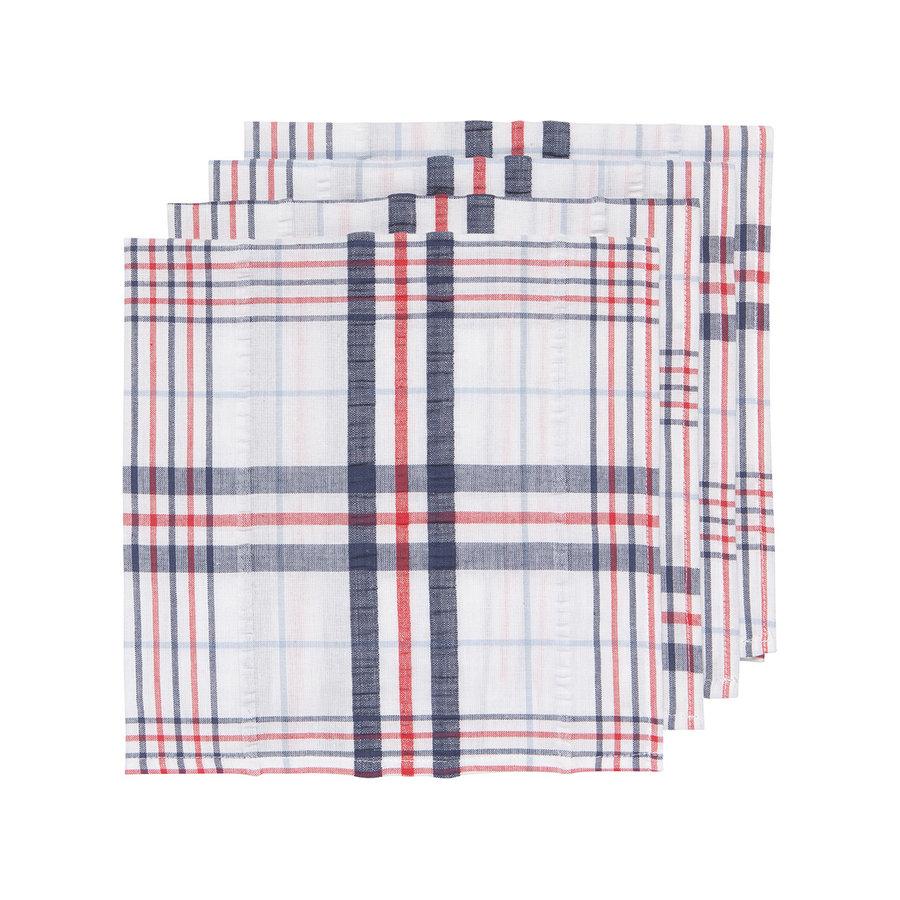 Serviette de table, motif à carreaux en tissu gaufré - Photo 0