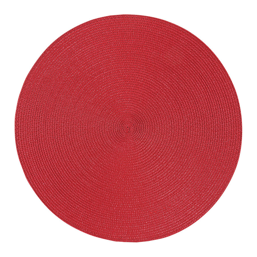 Napperon rond rouge - Photo 0