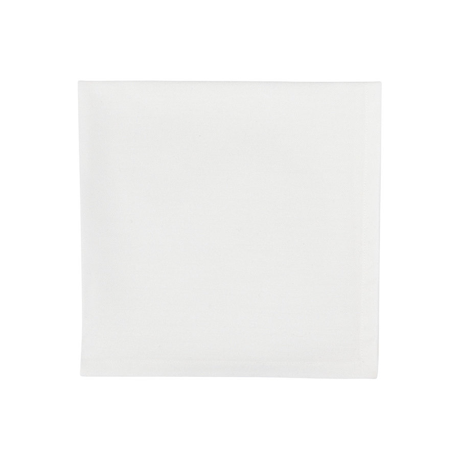 Serviette de table blanche - Photo 0