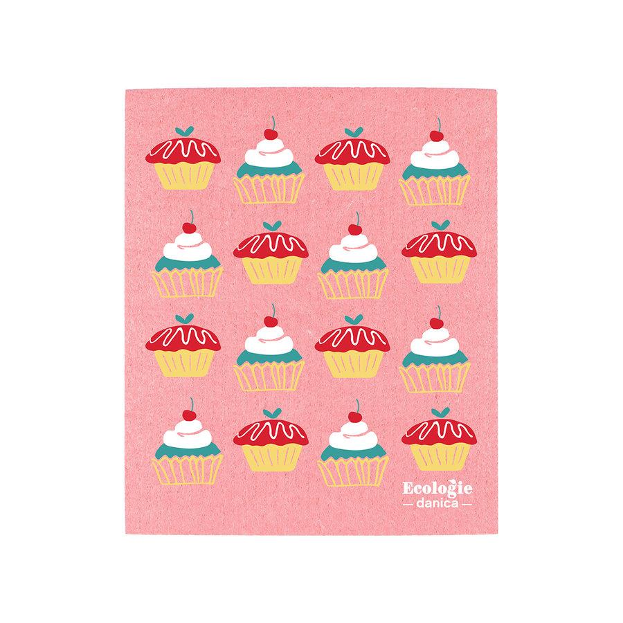Chiffon éponge solide, imprimé gâteaux - Photo 0