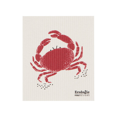 Solid Sponge Cloth, Crab Print