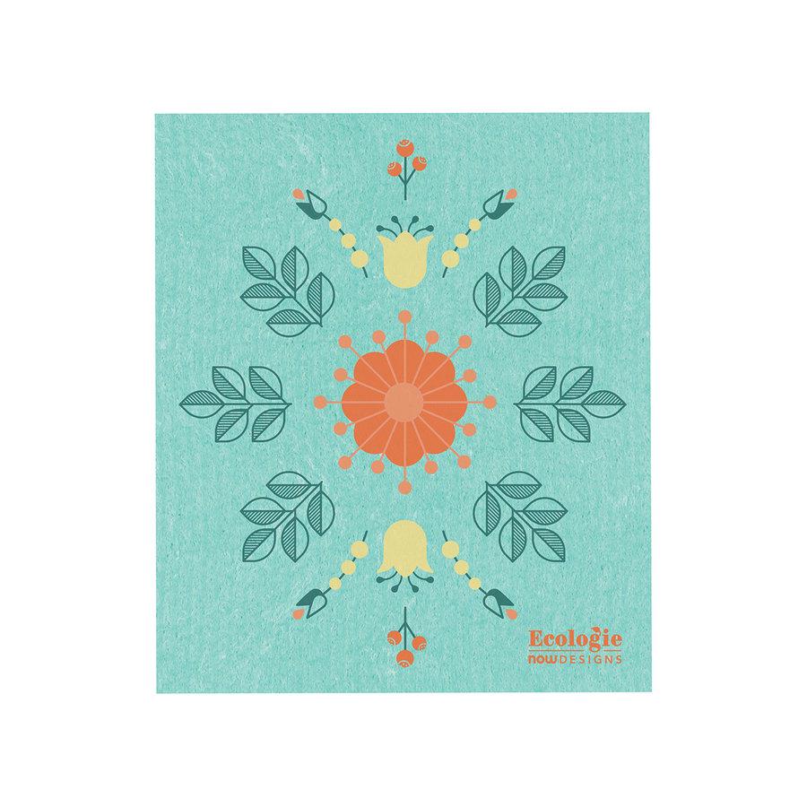Chiffon éponge solide, imprimé fleurs - Photo 0