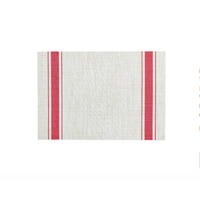 Red Bistro Striped Placemat