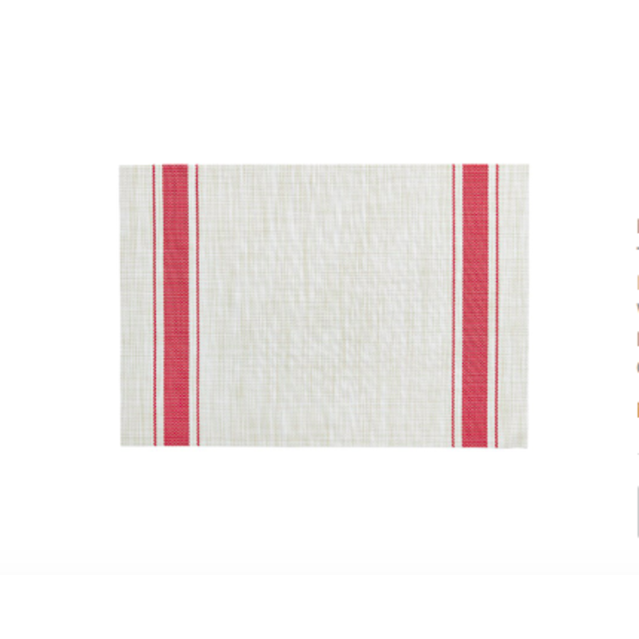 Red Bistro Striped Placemat - Photo 0
