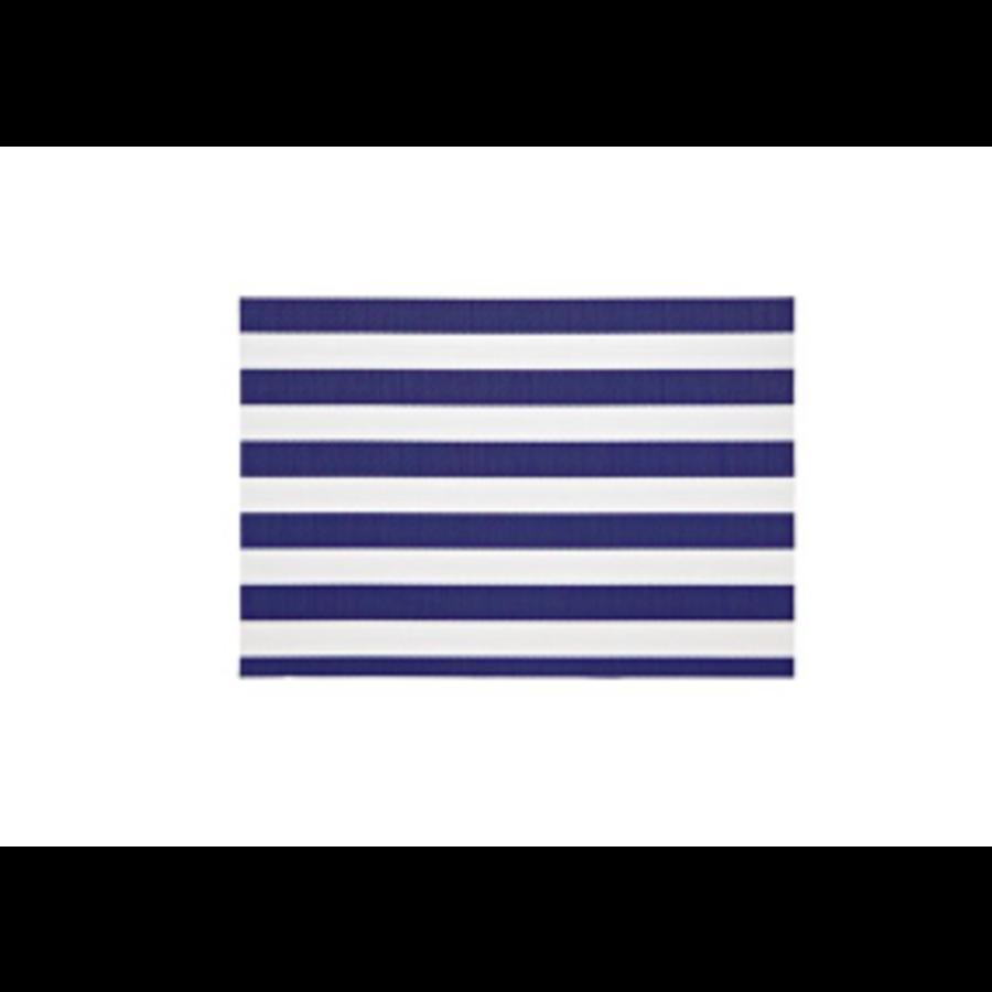 Napperon à rayures bleu marine style cabana - Photo 0