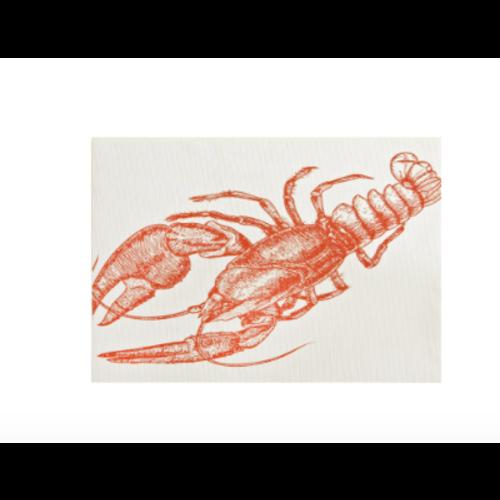 Napperon à imprimé homard
