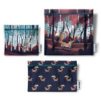 Trio de sacs réutilisables Demain Demain,  la forêt du renard