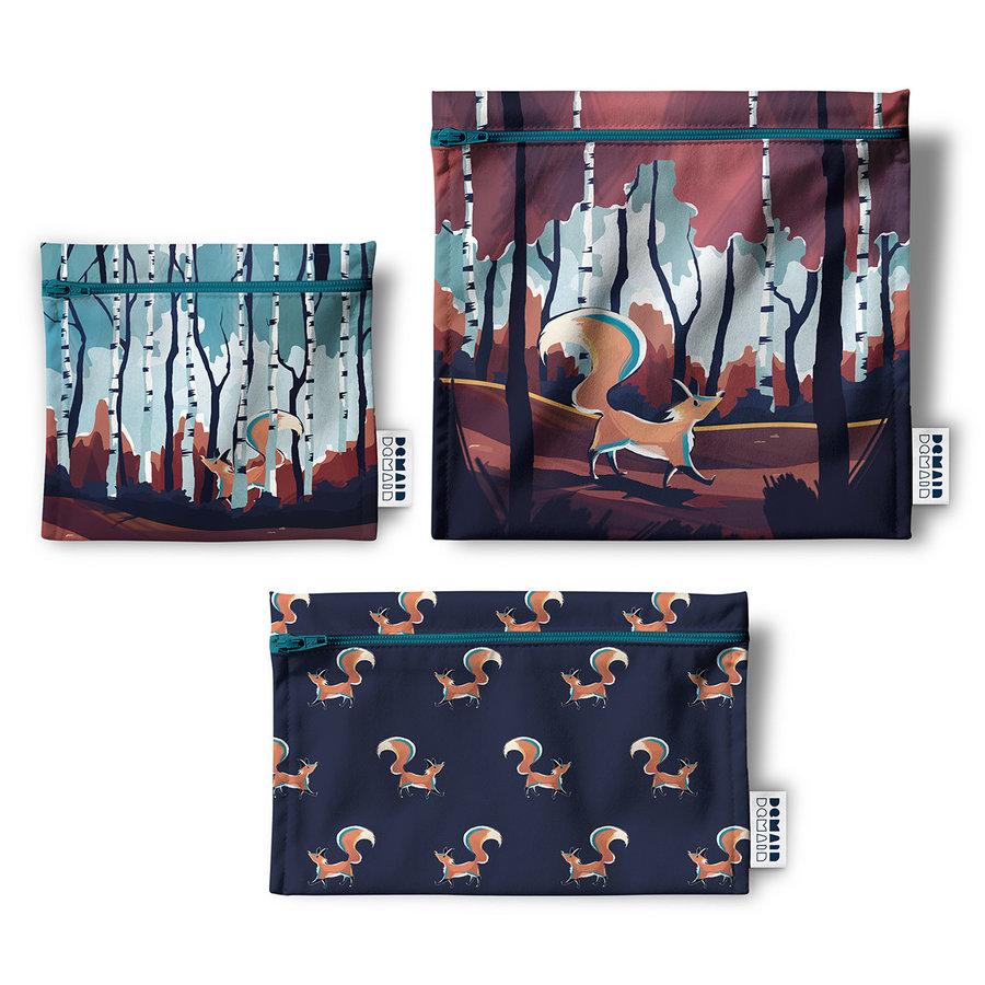 Trio de sacs réutilisables Demain Demain,  la forêt du renard - Photo 0