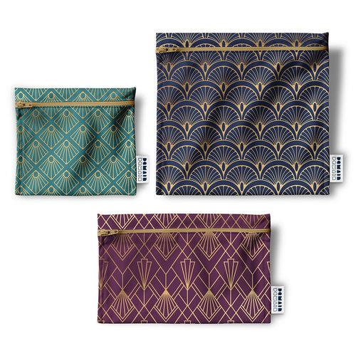 Demain Demain Art Deco Reusable Bag Trio