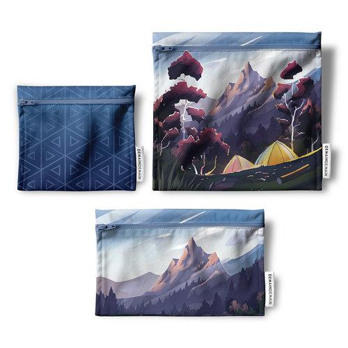 Trio de sacs réutilisables Demain Demain, camping