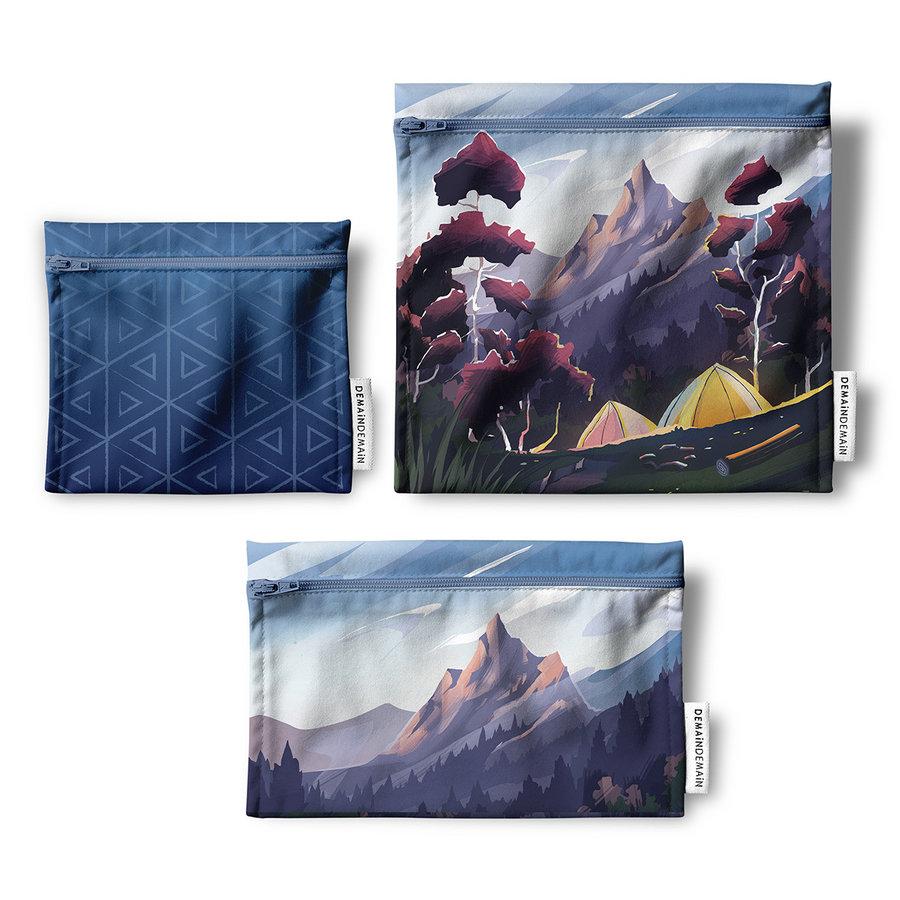 Trio de sacs réutilisables Demain Demain, camping - Photo 0