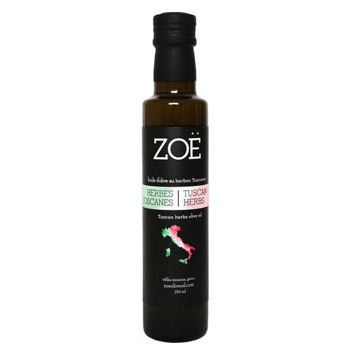Huile d'olive infusée aux herbes de Toscane Zoë