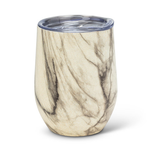 Verre à vin isolé Bevi, marbre